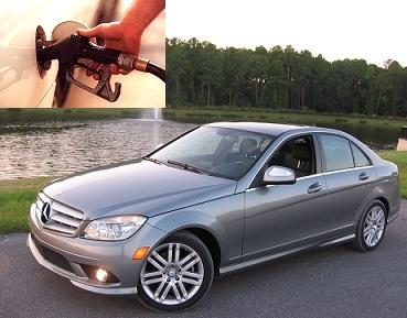 Mercedes Benz C 180 fuel consumption, miles per gallon or litres – km