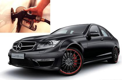 Mercedes Benz C 63 AMG fuel consumption, miles per gallon or litres – km