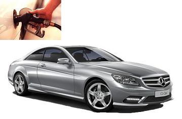 Mercedes Benz CL 500 fuel consumption, miles per gallon or litres – km