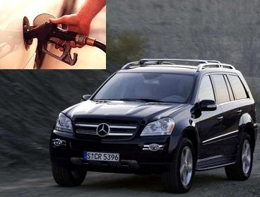 Mercedes Benz GL 320 DCi fuel consumption, miles per gallon or litres – km